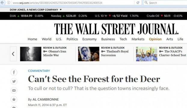 The Wall Street Journal - 3/11/2014- Al Cambronne