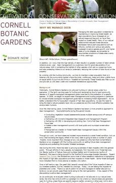 Article on Cornell Botanic Gardens Website