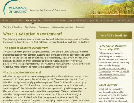 Foundations of Success - What is Adaptive Managment?