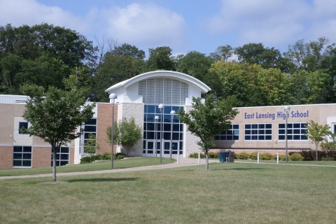 East Lansing High School - Photo by Kennethaw88 (CC BY 4.0)